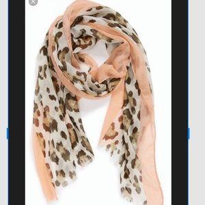 Nordstrom leopard pink scarf